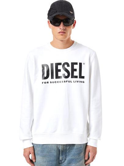 Diesel - S-GIRK-ECOLOGO, Weiß - Sweatshirts - Image 1