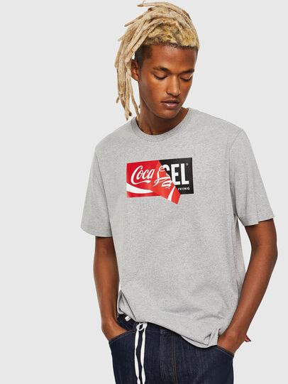 Diesel - CC-T-JUST-COLA, Grau - T-Shirts - Image 1