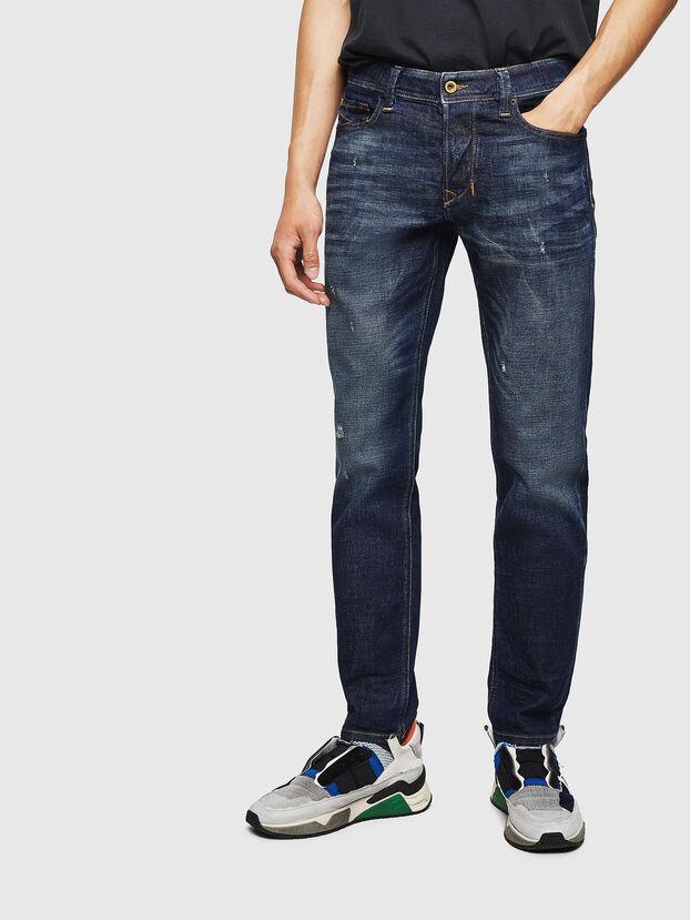Larkee-Beex 087AT, Dunkelblau - Jeans