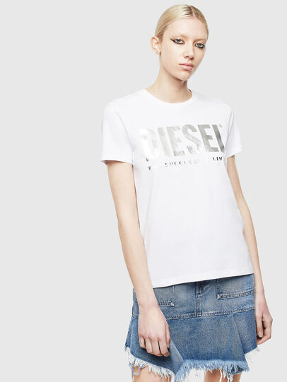 Diesel - T-SILY-WX, Weiss/Grau - T-Shirts - Image 1