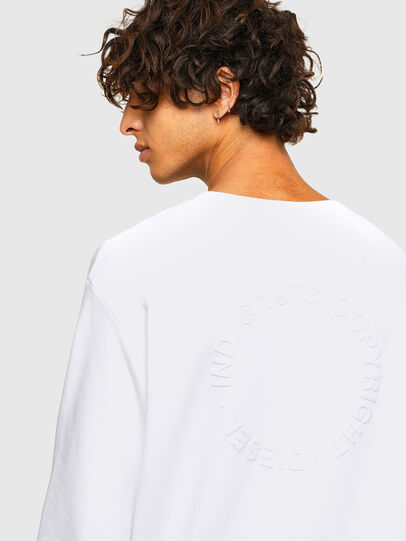 Diesel - S-GIRK-A73, Blanc - Pull Cotton - Image 4