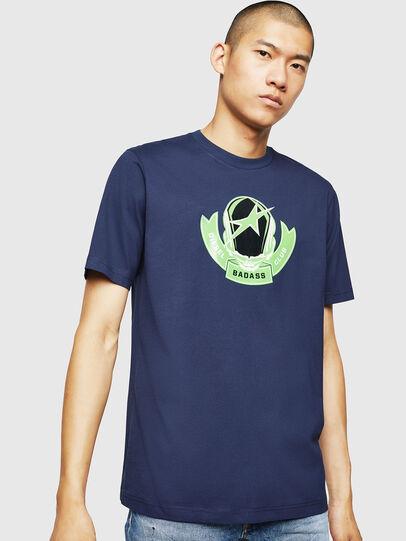 Diesel - T-JUST-B1, Blau - T-Shirts - Image 1