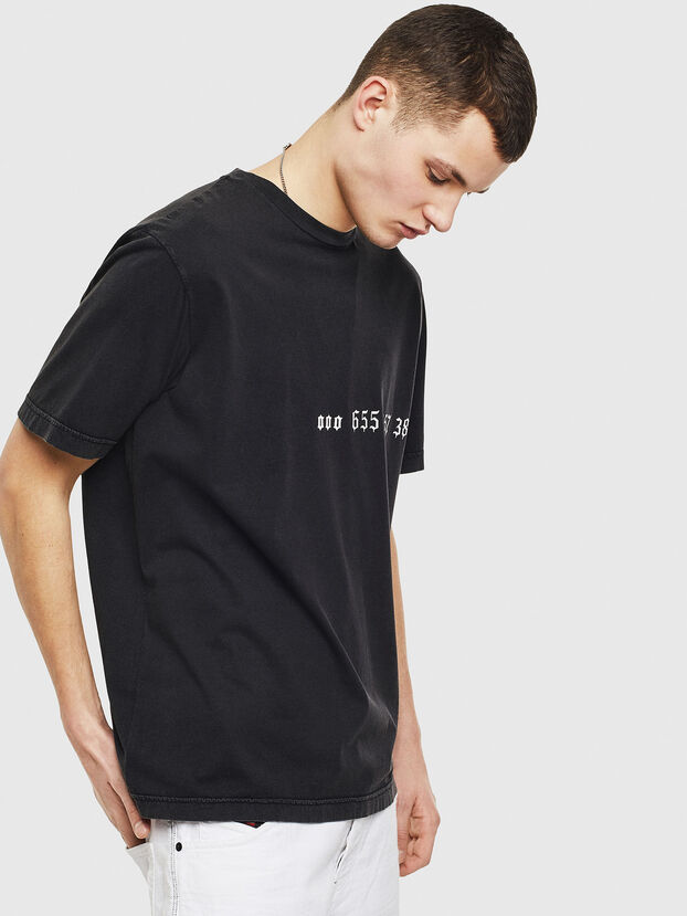 T-JUST-T12, Schwarz - T-Shirts