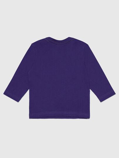 Diesel - TJUSTLOGOB-FL ML, Violet - T-shirts et Hauts - Image 2