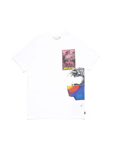 Diesel - D-5055-W, Weiß - T-Shirts - Image 1