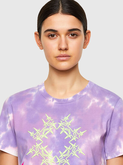 Diesel - T-SILY-A12, Lilas - T-Shirts - Image 4