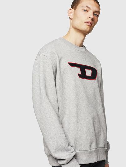 Diesel - S-CREW-DIVISION-D, Hellgrau - Sweatshirts - Image 1