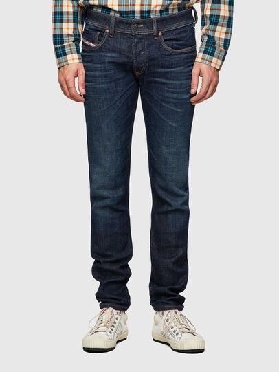 Diesel - Sleenker 09A43, Blu Scuro - Jeans - Image 1