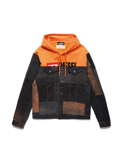 Diesel - D-BNHILL55, Orange - Denim jacken - Image 1
