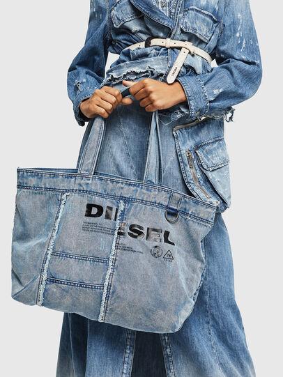 Diesel - D-THISBAG SHOPPER L, Hellblau - Shopper und Schultertaschen - Image 7