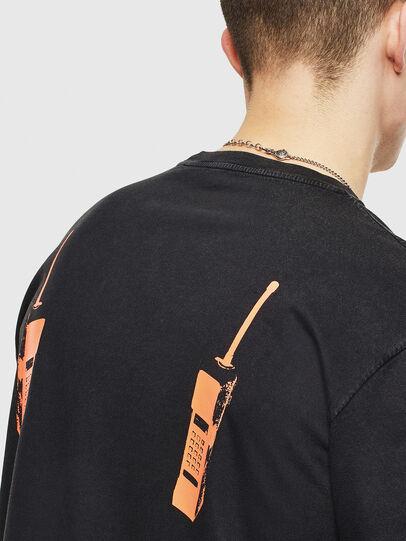 Diesel - T-JUST-T12, Schwarz - T-Shirts - Image 5