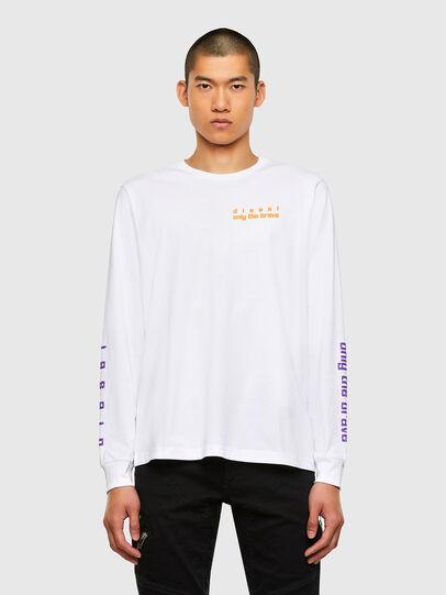 Diesel - T-JUST-LS-N64, Weiß - T-Shirts - Image 1