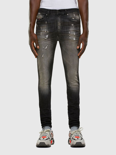 Diesel - D-REEFT JoggJeans® 009FX, Schwarz/Dunkelgrau - Jeans - Image 1