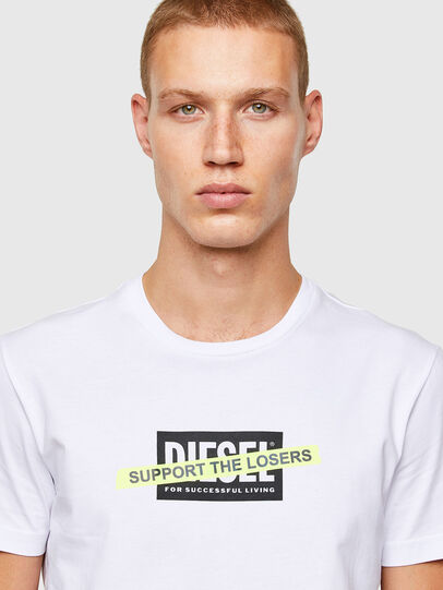 Diesel - T-DIEGOS-A3, White - T-Shirts - Image 3
