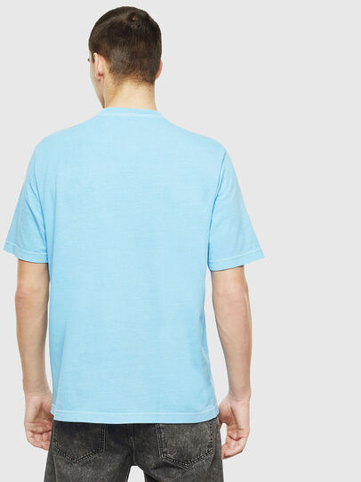 Diesel - T-JUST-NEON-S1, Azurblau - T-Shirts - Image 3