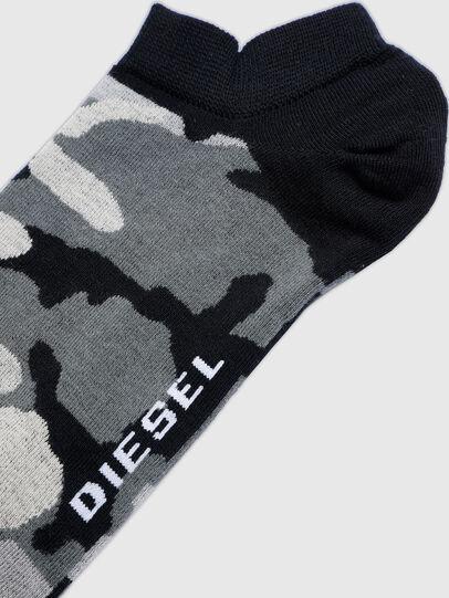 Diesel - SKM-GOST, Black/Grey - Low-cut socks - Image 2