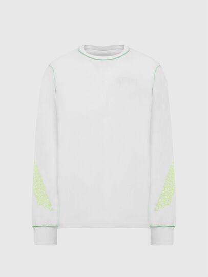Diesel - T-JUSEAM-LS, Weiß - T-Shirts - Image 1