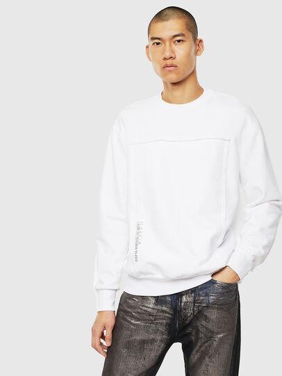 Diesel - S-BAY-RAW, Weiß - Sweatshirts - Image 1