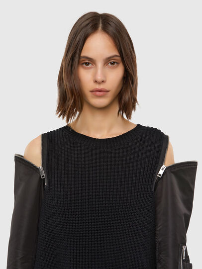 Diesel - M-CLARE, Noir - Pull Maille - Image 3