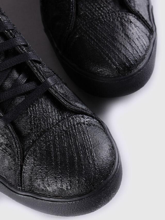 Diesel D-STRING PLUS, Lederschwarz - Sneakers - Image 4