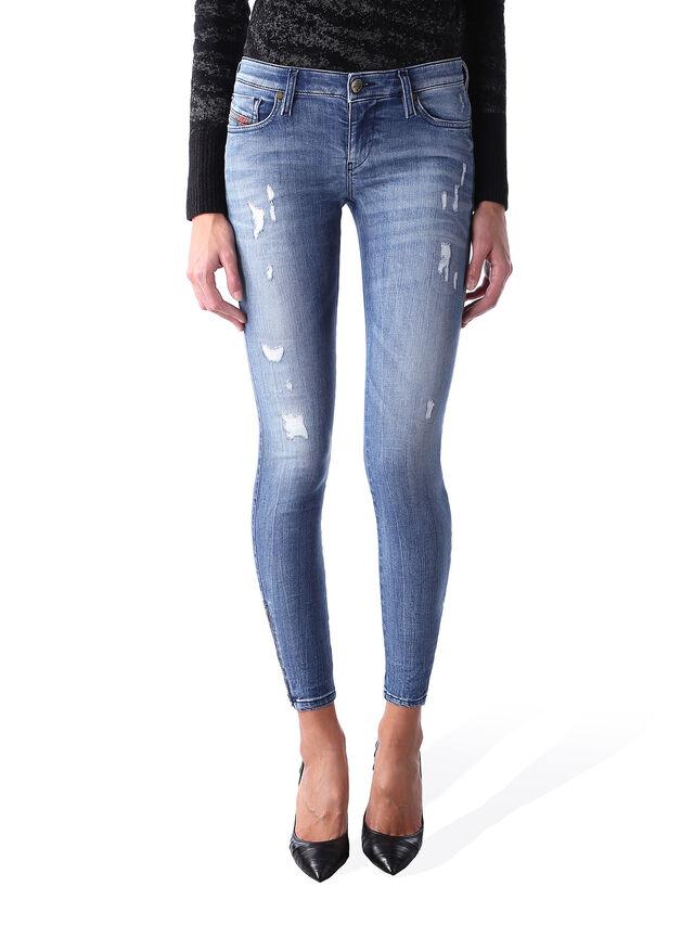 Diesel - Skinzee Low Zip 0847U, Mittelblau - Jeans - Image 1
