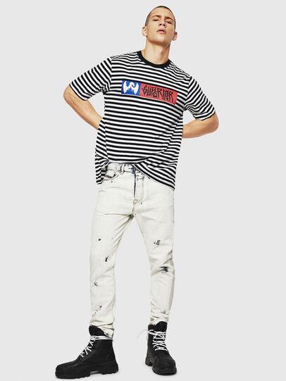 Diesel - T-VIKTOR, Schwarz/Weiß - T-Shirts - Image 5