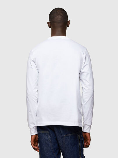Diesel - T-JUST-LS-A10, White - T-Shirts - Image 2