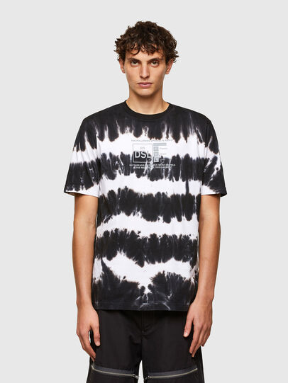 Diesel - T-JUST-A38, Black/White - T-Shirts - Image 1