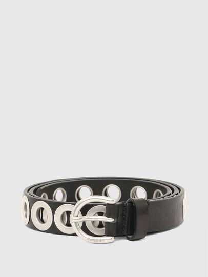Diesel - B-SPARK, Black/Silver - Belts - Image 1