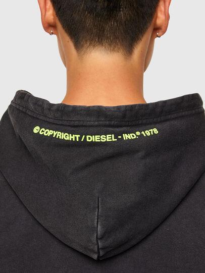 Diesel - S-GIRRIB-HOOD-A71, Noir - Pull Cotton - Image 4