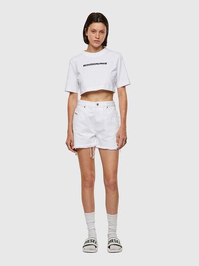 Diesel - T-RECROP, White - T-Shirts - Image 4