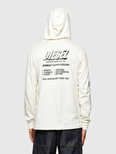 Diesel - T-JUST-LS-HOOD-SLITS, Blanc - T-Shirts - Image 2