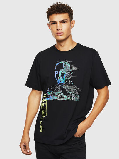 Diesel - T-JUST-J12, Schwarz - T-Shirts - Image 1