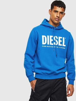 S-GIR-HOOD-DIVISION-, Blau - Sweatshirts