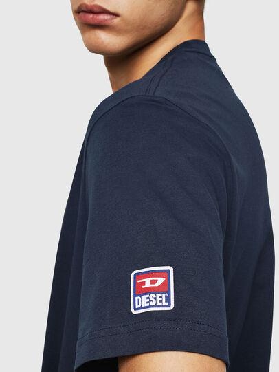 Diesel - T-JUST-DIVISION-D, Dunkelblau - T-Shirts - Image 4