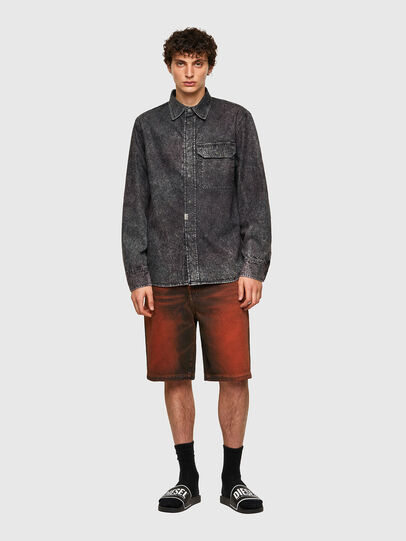 Diesel - D-WRAPP-SP, Black - Denim Shirts - Image 6