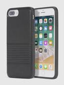 BLACK LINED LEATHER IPHONE 8 PLUS/7 PLUS/6s PLUS/6 PLUS CASE, Schwarz - Schutzhüllen