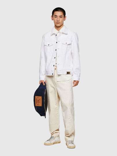 Diesel - NHILL-C1, Bianco - Giacche in denim - Image 7