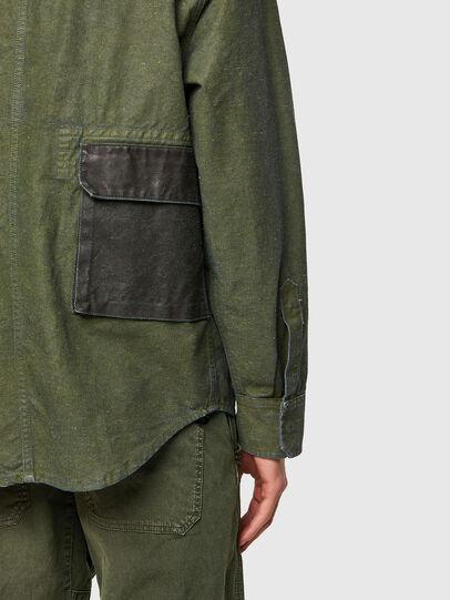 Diesel - D-CORU-SP, Vert Militaire - Chemises en Denim - Image 4
