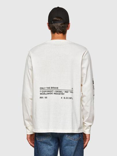 Diesel - T-JUST-LS-N60, Weiß - T-Shirts - Image 2