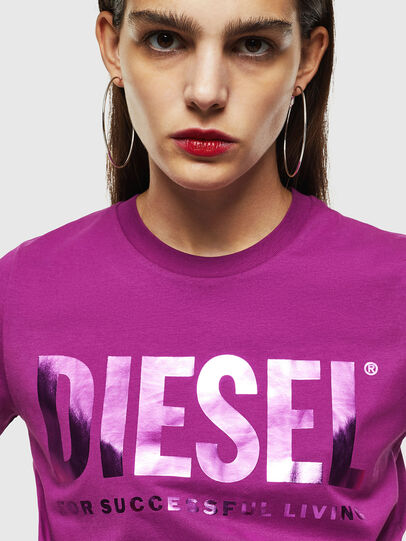 Diesel - T-SILY-WX, Violett - T-Shirts - Image 3