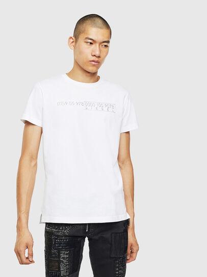Diesel - T-DIEGO-SLITS-J6, Weiß - T-Shirts - Image 1