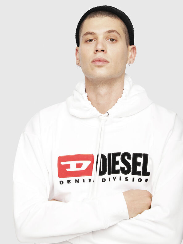 S-DIVISION, Weiß - Sweatshirts