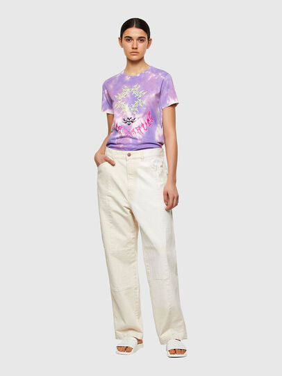 Diesel - T-SILY-A12, Lilas - T-Shirts - Image 5