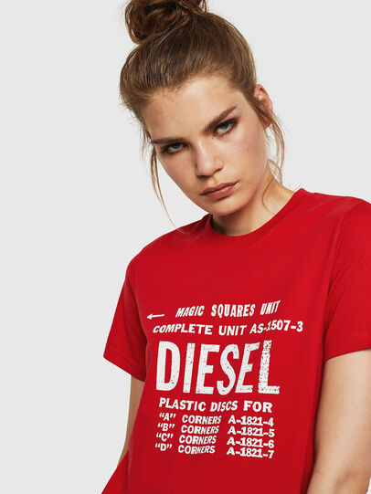 Diesel - T-SILY-ZF, Feuerrot - T-Shirts - Image 3