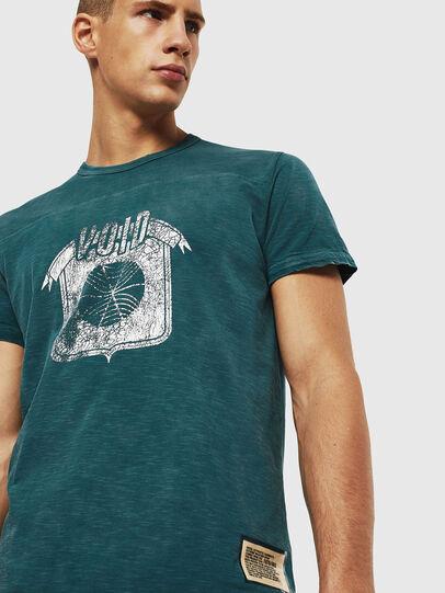 Diesel - T-DIEGO-CUT-AC, Marineblau - T-Shirts - Image 4