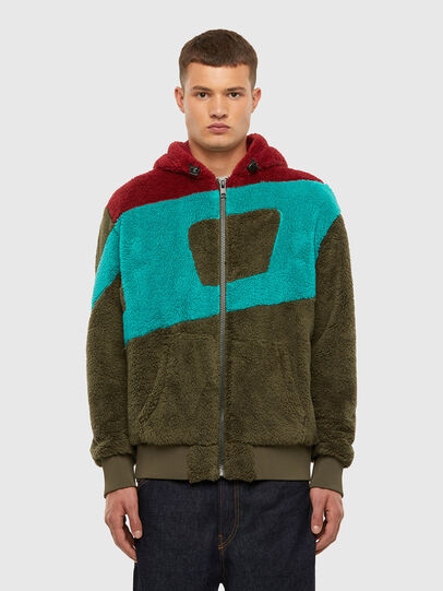Diesel - S-ALDY, Olivgrün - Sweatshirts - Image 1