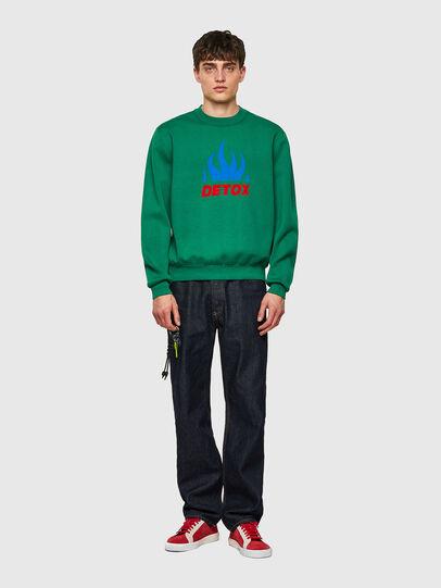 Diesel - K-TEXAS, Dark Green - Knitwear - Image 4