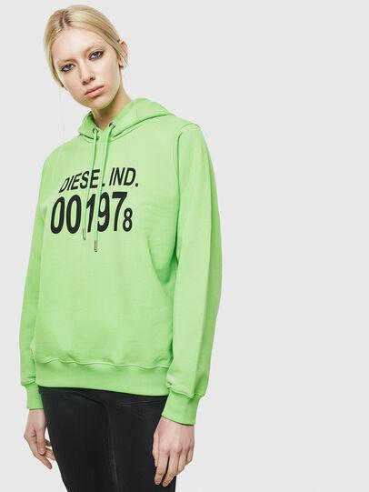 Diesel - F-ANG-HOOD-J1, Neongrün - Sweatshirts - Image 1