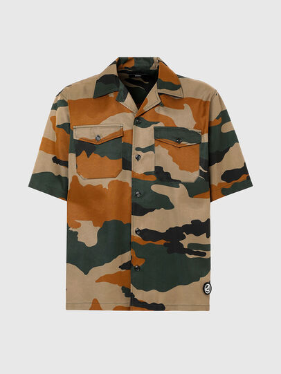 Diesel - S-WOLF-CAMU, Brown/Green - Shirts - Image 4